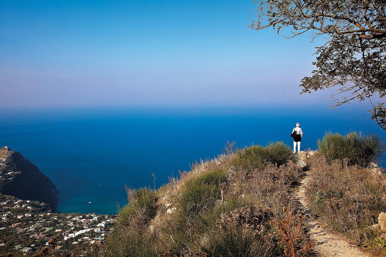 Ischia vista das colinas
